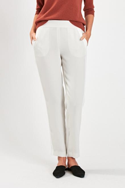 Tkaninowe spodnie z lampasem