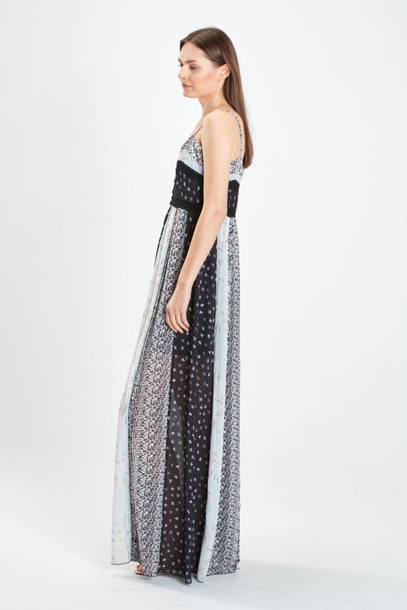 Patchworkowa sukienka na ramiączkach